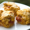 Cheesy garlic tomato biscuits