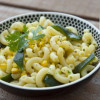Hot Pepper Pasta Salad with Roasted Corn and Cilantro