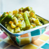Easy Summer Veggie Salad with Roasted Corn and Asparagus