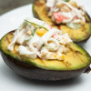 Grilled Avocados with Surimi Salad