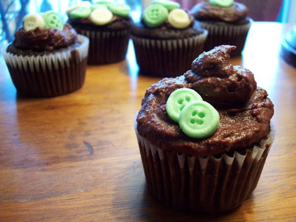 Chocolate Whiskey Mint Cupcakes