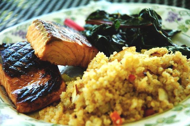 Donna's Quinoa with Grilled Salmon