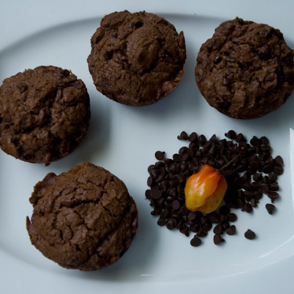 Rich, chocolatey habanero muffins