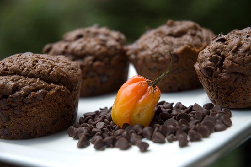 Chocolate Chip Habanero Muffins