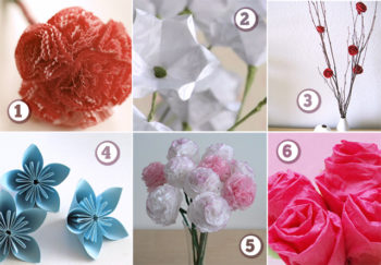 Six Great Paper Flower Tutorials