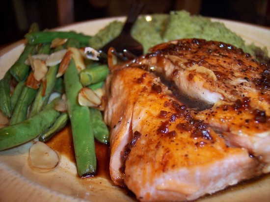 with orange balsamic glaze salmon steak with orange balsamic glaze ...