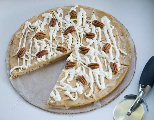 Pumpkin Ice Cream Pizza