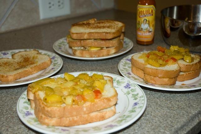 Chili Chutney Sandwiches