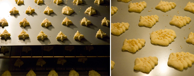 Christmas cookies in the oven