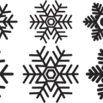 Download my snowflake template (PDF)