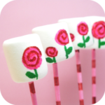 The Decorated Cookie's Mod Rose Marshmallows