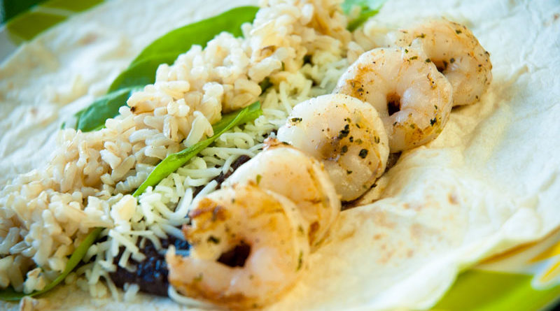 Black Bean Hummus Shrimp Wraps