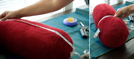 Measure your neckroll pillow for the cover.