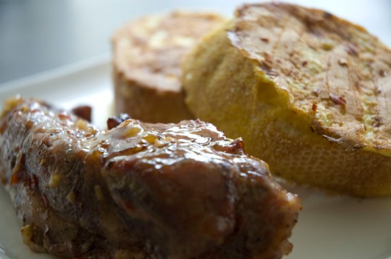 Sweet Spicy Pork with Savory French Toast