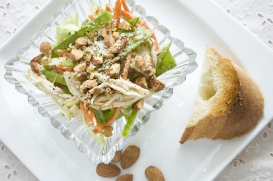 Healthy Chicken Salad with Almond and Veggies