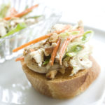 Healthy Chicken Salad on Toasted French Bread