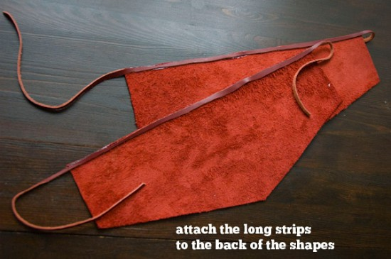 Attach strips to the shapes