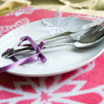 Set your pretty holiday table with these easy snowflake placemats.