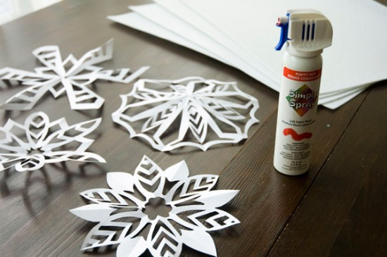 Materials needed for snowflake placemats