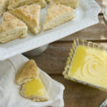 Lemon curd and scones