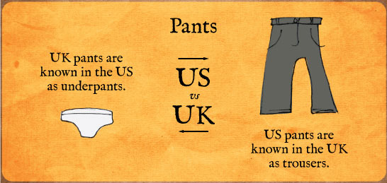 Pants in England and America