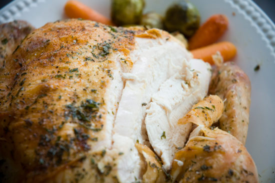 Roast chicken is moist!