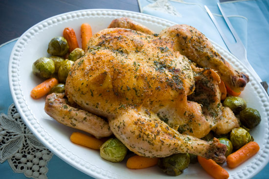 Roast chicken is versatile!