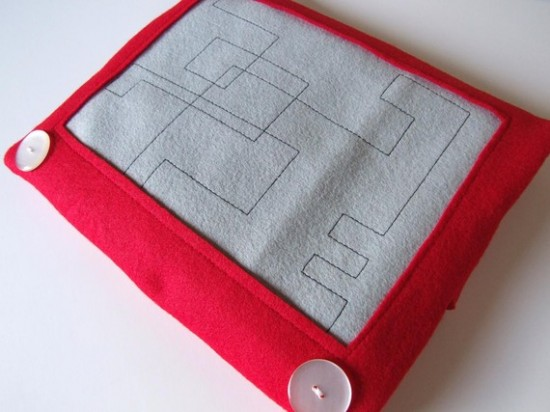 Etch-a-Sketch Laptop Sleeve by CoolLikeThat
