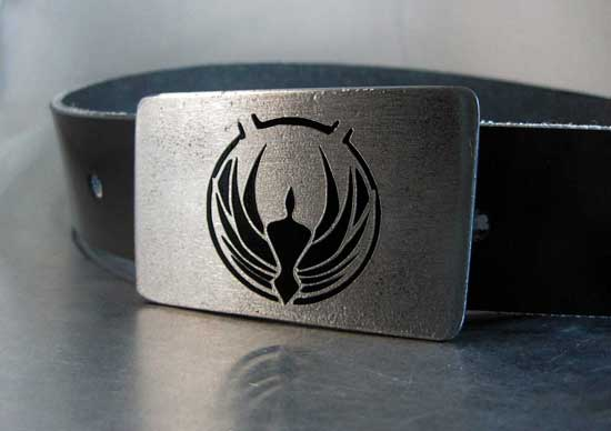 Battlestar Galactica belt buckle by RhythmicMetal