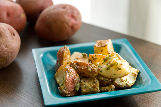 Roasted Garlic and Potato Salad