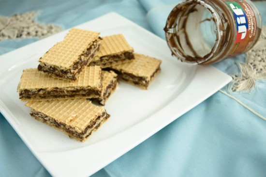 Mocha wafers not covered in chocolate