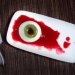 Creepy eyeball panna cotta from Kitchen Table Scraps
