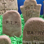Fudge tombstones from Hungry Happenings