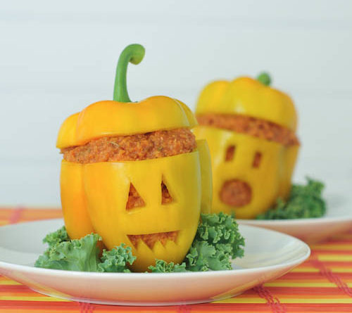 Jack-o-lantern peppers from Spabettie