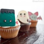 Kawaii halloween cupcake topper templates from Next to Nicx