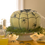 Spider nest pumpkin centerpiece from Better Homes & Gardens