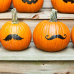 Pumpkin moustache by Sara Luke