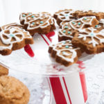 Pretty cookies on pretty Christmas pedestals you can make for pennies.