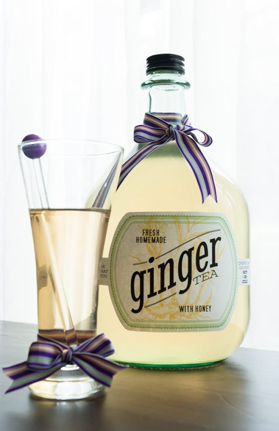 Ginger tea is easy to make