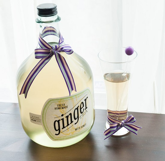 Homemade ginger tea recipe
