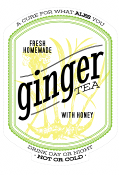 Free download: Ginger tea labels