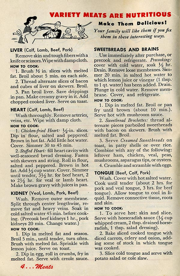 Variety Meats of 1943
