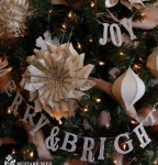 Chipboard letter garland