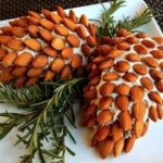 Pretty pine cone cheese logs