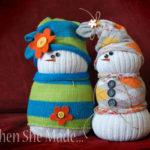 Sock snowmen