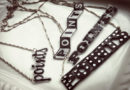 Falcons points! A shrink plastic text necklace tutorial