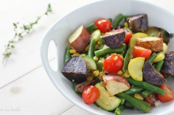 Kate's Rainbow Roasted Potato Salad
