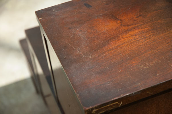 Wood table, before restoring