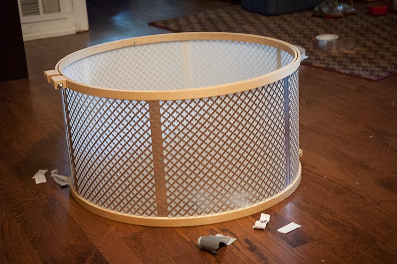 If There Were An In Progress Photo Of Our Drum Shade This Would Be