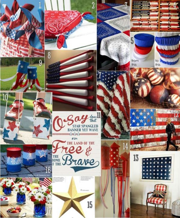 Knuckle Salad's Fourth of July craft and decorating roundup